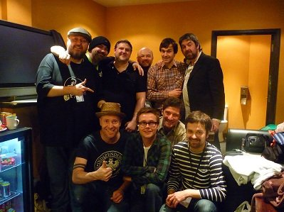 Our dear friends The Bluetones and Andy.....